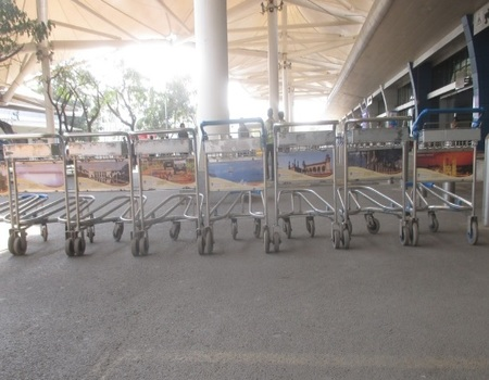 Luggage Trolley Advertising at Pune Airport