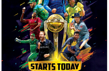 Front page advertisement in Times of India Delhi for ICC Cricket World Cup 2019 on Star