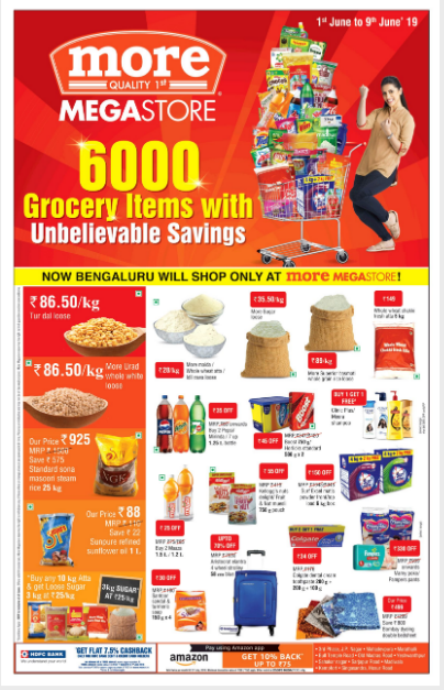 TOI Bangalore full page ad for retail brand More