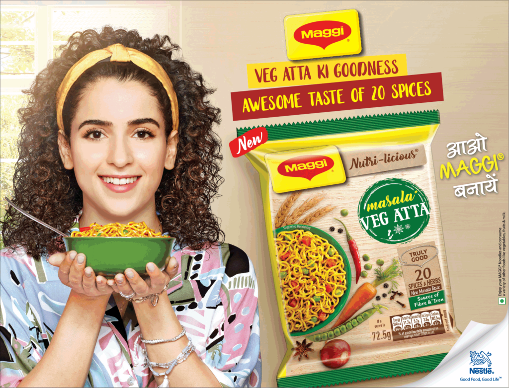 Times of India Delhi Advertisement for Maggi