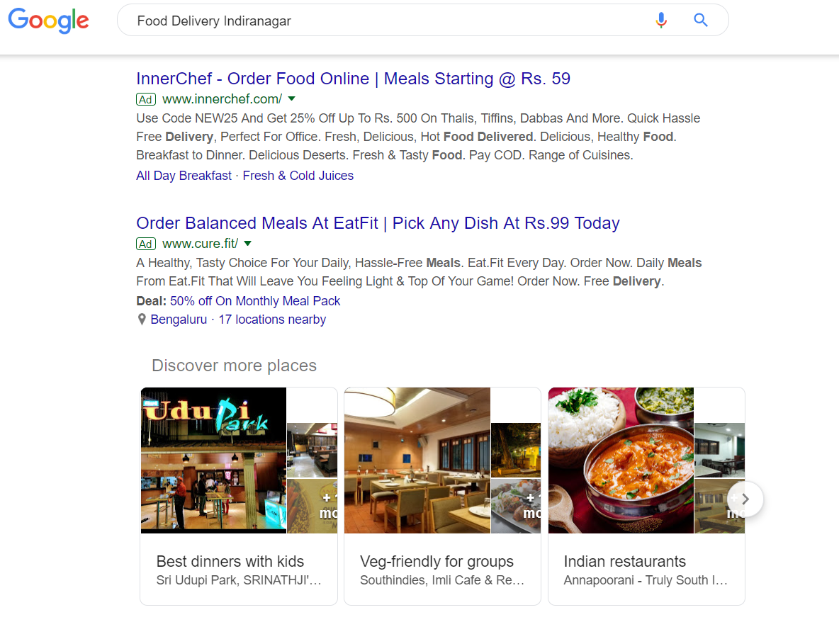 Google Search Advertising for hyperlocal advertising