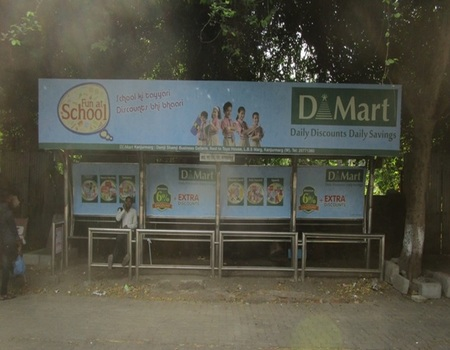 Advertising on Bus Shelter in Mulund West, Mumbai