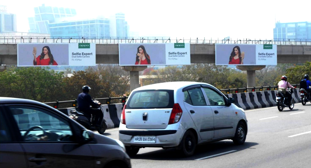 Outdoor Advertising in Connaught Place, New Delhi, India