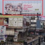 Advertising on Hoarding in Begumpet, Hyderabad