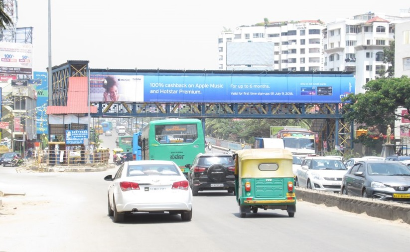 Skywalk advertising in marathahalli