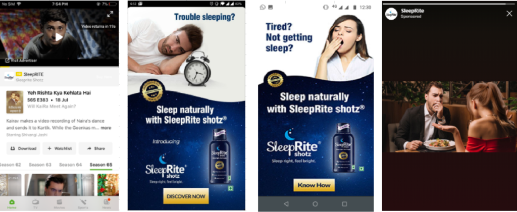 digital advertising campaign for Sleeprite
