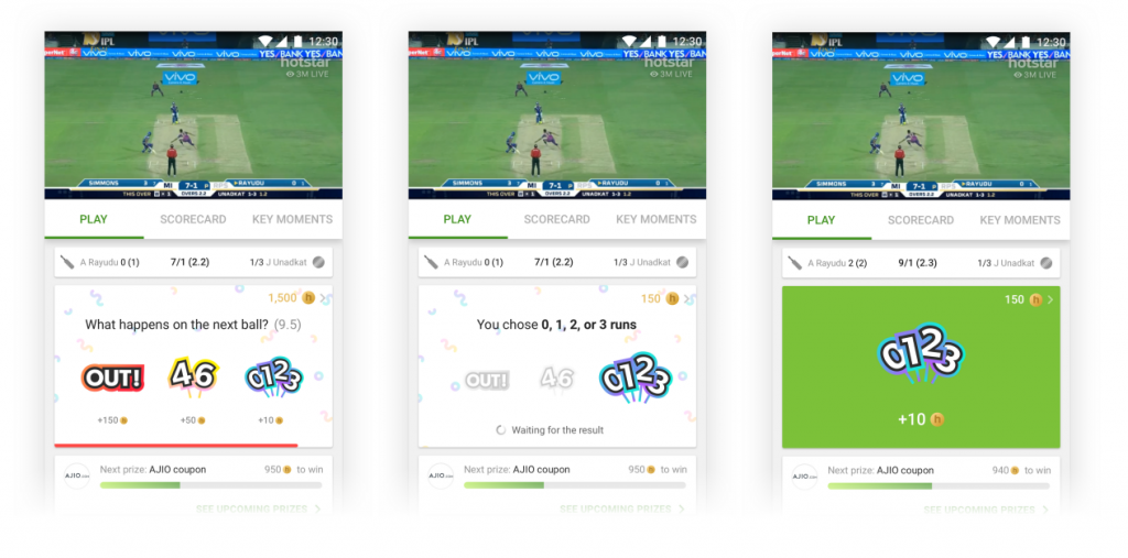 Hotstar advertising also has an option to advertise in the live social feed