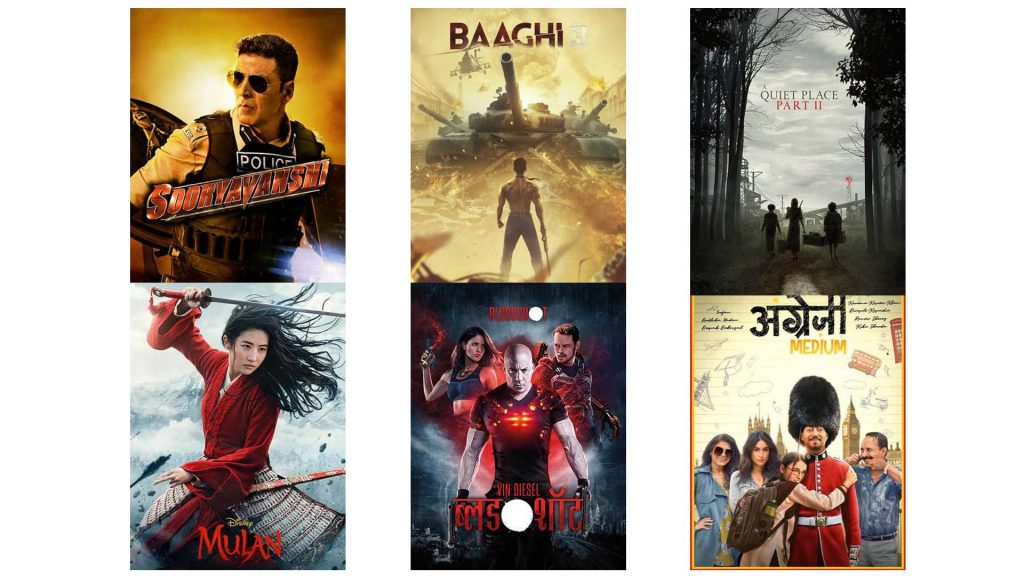 Movies releasing in March 2020