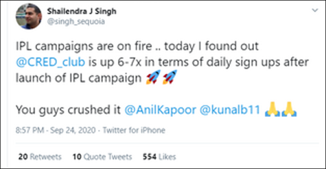 How Cred got a 7X daily sign ups after IPL campaign